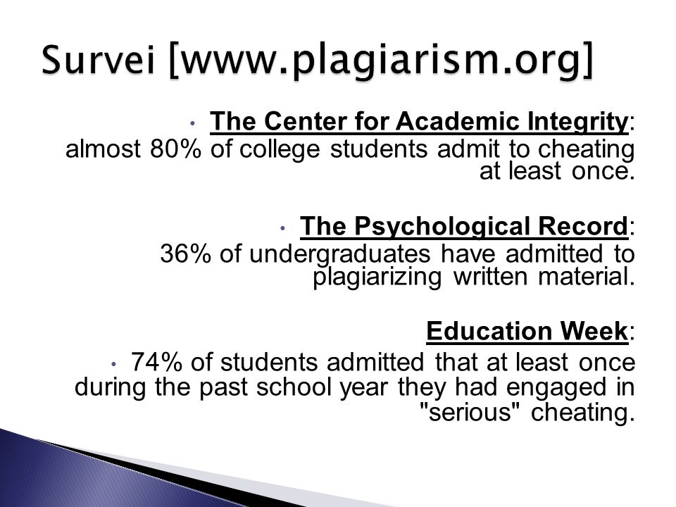 Survei [www.plagiarism.org]